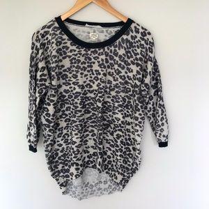 Aritzia Wilfred Balzac Crew Sweater Leopard Print